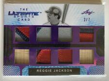 2019 leaf ultimates sports reggie jackson game-used memorabilia .patches #2/7