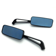 Pair Motorcycle Rear View Rearview Side Mirrors Handle Bar End Mount 8mm 10mm #K