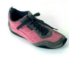 Guess Womens Walking Shoes Size 10 Sneakers Suede Pink Gray Lace Up Casual