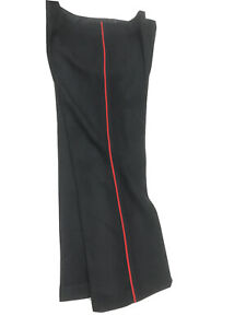 Genuine Trousers Man's Sergeant Footguards Welsh Guards Black, Red Stripe Wool