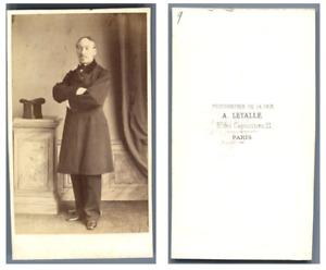 Mr Santuary vintage carte de visite, CDV CDV, tirage albuminé, 6 x 10.5 cm, vi