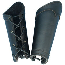 Quality Black Leather Warrior Bracers. Perfect Stage Costume LARP Re-enactment