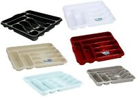 High Grade Plastic Cutlery Holder Tray Rack Draw Organizer Kitchen Tidy Storage