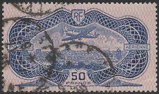 "FRANCE AVION N° 15 "" CAUDRON SIMOUN 50F BURELAGE ROSE 1936 "" OBLITERE TB  K324"
