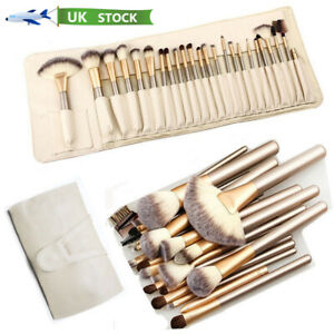 24PCS Professional Make up Brushes Set Cosmetic Tool Kabuki Makeup+ Luxury Bag