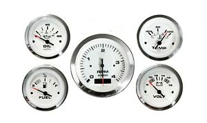 AC DC Marine gauges set of 5 Lido Series