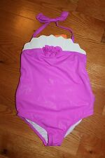 NWT Gymboree 2014 Swim Shop Size 5T Purple Sparkle Flower Swimsuit