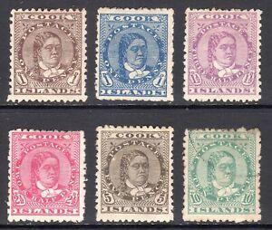COOK ISLANDS 1893-94 Queen Makea Takau p12x11½ set M,U, SG 5-10 cat £220