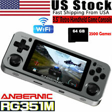 Anbernic Rg351M Handheld Metal Retro Game Video Console 64Gb Built in 2500 Games