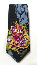 Ed Hardy Men Necktie Tie Multi-color Novelty Tattoo Art Heart Love Kills NEW