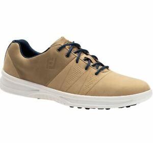 FootJoy Contour Casual Spikeless Men's Golf Shoes 54056 Tan 11 Medium D #83208