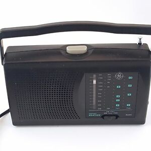 GE 3 Band Model 7-2946B AM/FM/TV1/TV2 with Instant Weather Radio Band