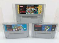 Mario Kart + Mario All Stars + Mario World Super Nintendo Snes Games - PAL - #2