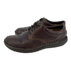 BORN W6540 Women's Size 8 Brown Leather Lace Up Padded Walking Comfort Shoes