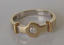 ✨ Princess ✨ Diamant Ring in aus 14kt 585 Gold Ring mit Brillant Solitär Diamond