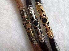 3 PCs Tibetan Carved Metal Beads Set - Dreadlock Beads dread beads 8mm hole