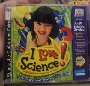"""""""I Love Science"""" scholastic - Math Learning Software Age 7-11 Homeschooling cd"""