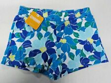 GIRL'S SIZE M (7-8) GYMBOREE CUTE BLUE/GREEN FLORAL PRINT SHORTS NEW NWT #6253