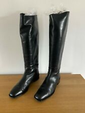 Bally Size 39/6 Tall Black Riding Style Boots