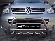 VW T5 T6 TRANSPORTER CROMO ASSE spinta Barra ad A, acciaio INOX BULL BAR 2003