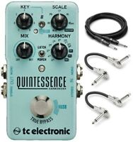 New TC Electronic Quintessence Harmonizer Guitar Effects Pedal Free Hosa Cables