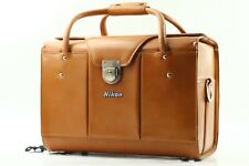 EXC5 Vintage Nikon FB-11A Compartment BROWN LEATHER CARRY HARD CASE BOX