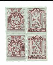 Great Britain Scottish Sunday School stamps 1890 se-tenant block of 4 S. Andrew