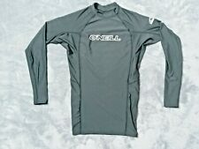 New listing O'Neill Mens Rashguard Size Small Top Shirt Black Huge Logos Surfing Surf New