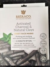 Rata & Co NZ Naturals. Charcoal and Natural Clays Sheet Face Masks (5 in 1 pack)