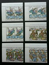 Vatican City Scene From Bible 1988 Angel Christmas (stamp block of 2) MNH