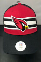 Arizona Cardinals NFL Football Team Stripe MVP OSFA Snapback Trucker Hat Cap NEW