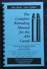 .454 Casull Reloading Manual LOADBOOK 454 CASULL USA   Latest 2016 Edition NEW