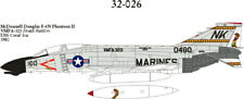OOP, CAM DECAL, 1/32 SCALE, 32-026, F-4N PHANTOM, VMFA-323,  Death Rattlers