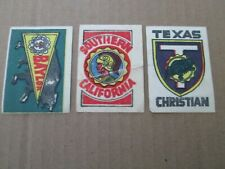 1961 Topps Flocked Stickers-Southern Cal- Baylor-Texas Christian-Football