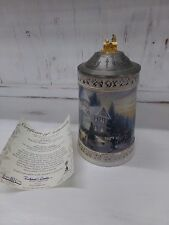 Thomas Kinkaid Limited Edition Victorian Christmas Lidded Beer Stein w/ COA