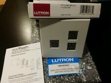 LUTRON CUSTOM PLATE NT-C36/C56-FB-WH WHITE MULTIGANG FACEPLATE FP-COM2-MPLLP NEW