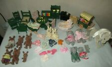 Vintage Lot of Sylvanian Families, Figures, Furniture & Accessories