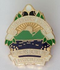 Mid North Coast District Womens Bowling Club Badge Pin Vintage Lawn Bowls (L26)