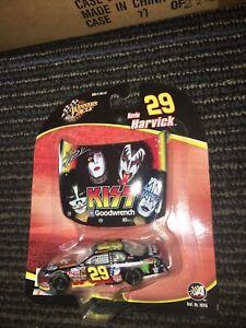 Kevin Harvick #29 Kiss Band Hood & Car 2004 Winner's Circle 1:64 Nascar Diecast