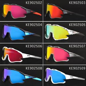 4 Lenses UV400 Cycling Glasses Polarized Bike Eyewear Goggles Sports Sunglasses