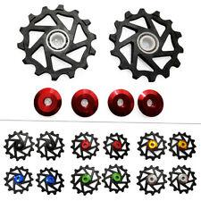 2PC 14T Ceramic Derailleur Pulley/Jockey For SRAM MTB Black/Blue/Red/Golden/Grey