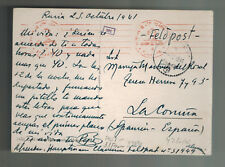 1941 Germany Blue Division Soldier Russian Front WW2 PC Cover to Spain Feldpost