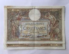Suite 2 Numéros Billets 100 Francs Luc Olivier Merson Sans Lom 1932