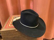 Charlie1 HorseVintage Western HatBlack Size 6 7/8 w/Box