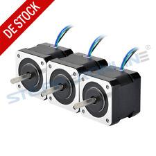 Schrittmotor 3PCS Nema 17 Stepper Motor 40mm 45Ncm 2A 12V 4-Draht DIY 3D Drucker