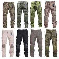 ca26b4cb Tactical Pants With Knee Pads Army military Ripstop Combat Camo Trousers  for Men