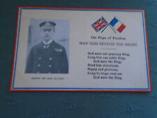 WW1 THE FLAGS OF FREEDOM GOD DEFEND THE RIGHT ADMIRAL SIR JOHN JELLICOE POSTCARD