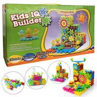 81Pcs Kids IQ Builder Educational Construction Toy Interlocking Building Blocks