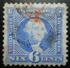 """U.S.Stamp:Scott#115, 6c, Ultra, The """"Pictorials"""" National Banknote issue of 1869"""