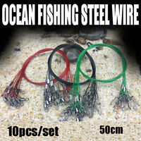 Swivels Wire Leader With Swivel  Rope Wire Fishing Lead Line Safety Snap